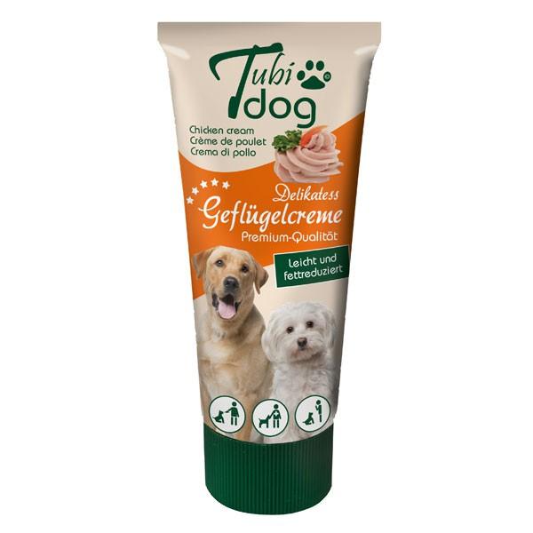 Hansepet Tubidog Hundesnack Geflügelcreme 75g