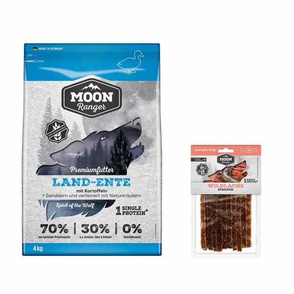 Moon Ranger mit Land-Ente 4kg + Wildlachs Streifen gratis
