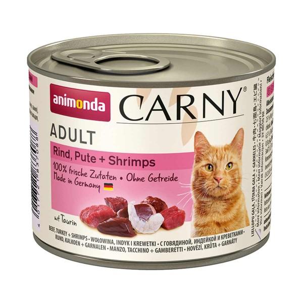 Animonda Katzen-Nassfutter Carny Adult Rind, Pute & Shrimps