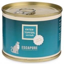 Escapure Katzenfutter Enten Topferl mit Kalb 200g