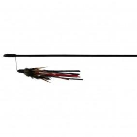 Jollypaw Spielangel mit Lederbändchen und Federn, 50 cm