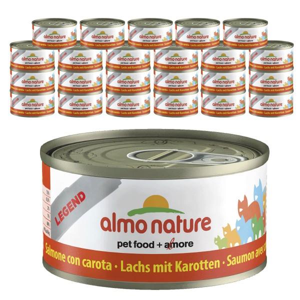Almo Nature Legend Katzenfutter 24x70gLachs mit Karotte