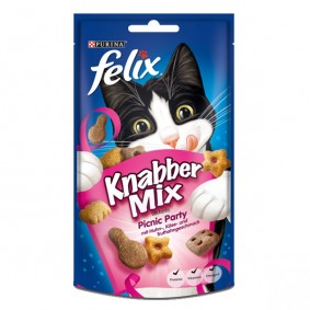 Felix Knabber Mix Katzensnack 60g Picknick Party 2+1 Gratis