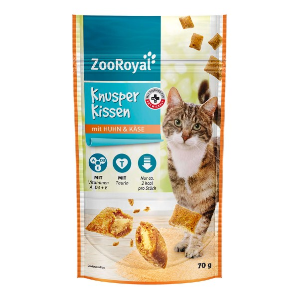 ZooRoyal Knusperkissen mit Huhn & Käse