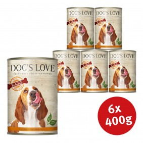 Dog's Love Nassfutter B.A.R.F Pute Pur