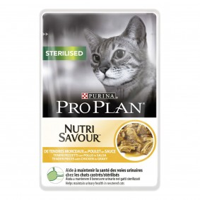 Pro Plan Katzen-Nassfutter Sterilised Huhn 85g