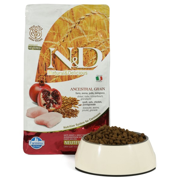 Farmina N&D Adult getreidearm Huhn und Granatap...