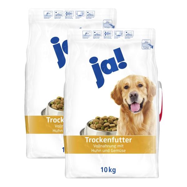ja! Hundefutter mit Huhn und Gemüse 2x10kg Trockenfutter