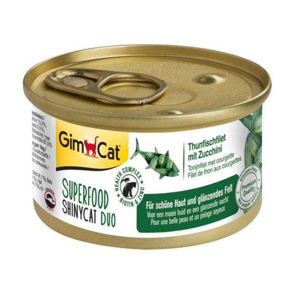 GimCat Superfood ShinyCat Duo Thunfischfilet mit Zucchini