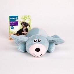 ZooRoyal Plüschhund hellblau/weiß mit Hupe