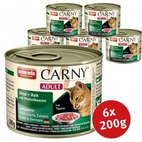 Animonda Katzenfutter Carny Adult Rind, Reh & Preiselbeeren