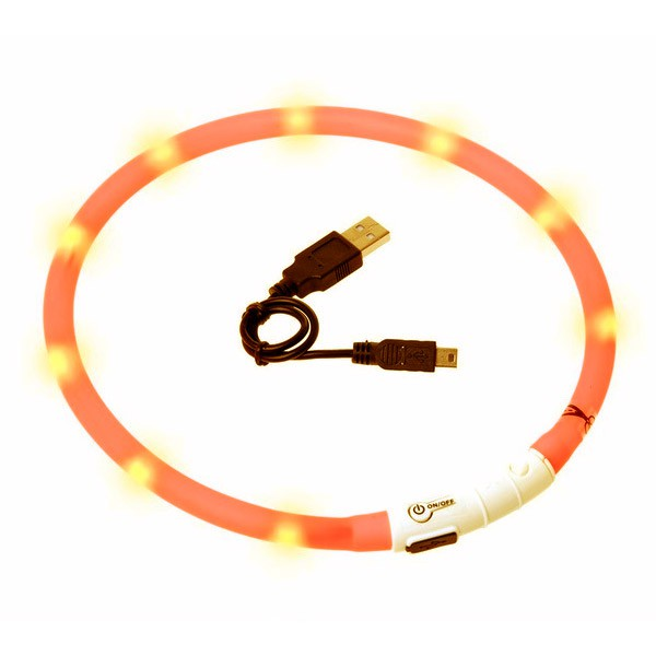 Karlie Visio Light LED Leuchthalsband - Orange