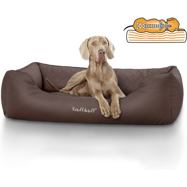 Knuffelwuff orthopädisches Hundebett Madison braun