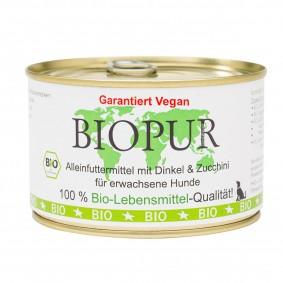 BIOPUR Hundefutter Bio Vegan Dinkel, Zucchini 400g