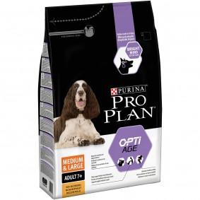 Pro Plan OPTIAGE Medium & Large Adult 7+, 4x3kg + 3kg gratis