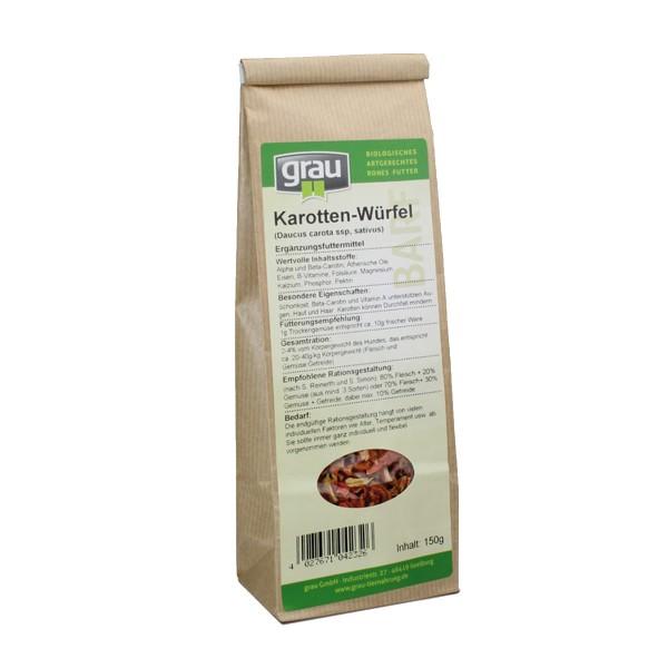 Grau BARF Karotten Würfel 150g