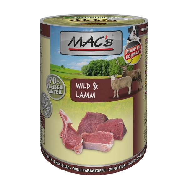 MAC's Dog Hundefutter Wild & Lamm 6x400g