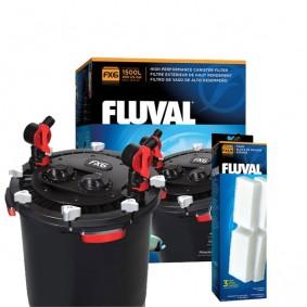 Fluval Außenfilter FX6 inkl. 3er Pack Schaumstoffvorfilter