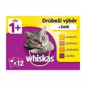 Whiskas kapsičky pro dospělé kočky: drůběží výběr v želé