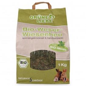 Naturhof Schröder Grüne Liebe Bio-Weser-Wiesenheu mit Minze 1 kg
