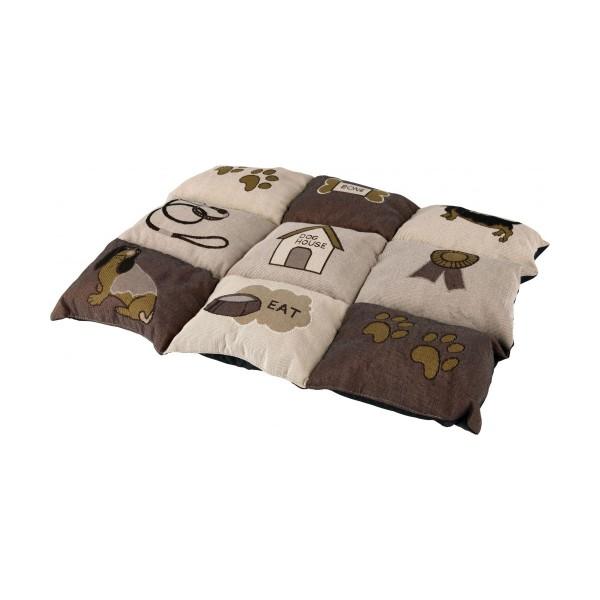 Trixie Decke Patchwork braun/beige 55x40 cm