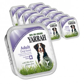 Yarrah Hundefutter Bio Pate Truthahn Aloe Vera 14x150g