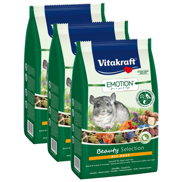 Vitakraft Emotion Beauty Selection Chinchillas 3x600g