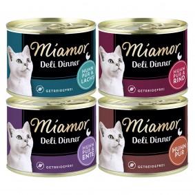 Miamor Deli Dinner Mixpaket alle 4 Sorten 24x175g