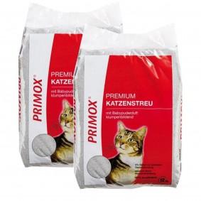 Primox Premium Katzenstreu mit Babypuderduft 2x12kg