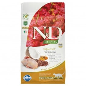 N&D Cat Quinoa Skin & Coat Quail