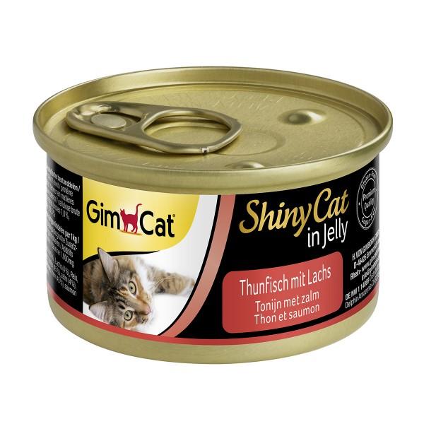 GimCat Katzenfutter ShinyCat in Jelly Thunfisch mit Lachs
