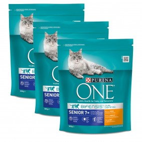 Purina One Bifensis Katzenfutter Senior 7+ Huhn 3x800g