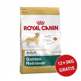 Royal Canin Golden Retriever Adult 12kg+3kg Gratis!