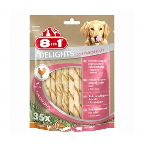 8in1 Hundesnack Delights Pork Twisted Sticks
