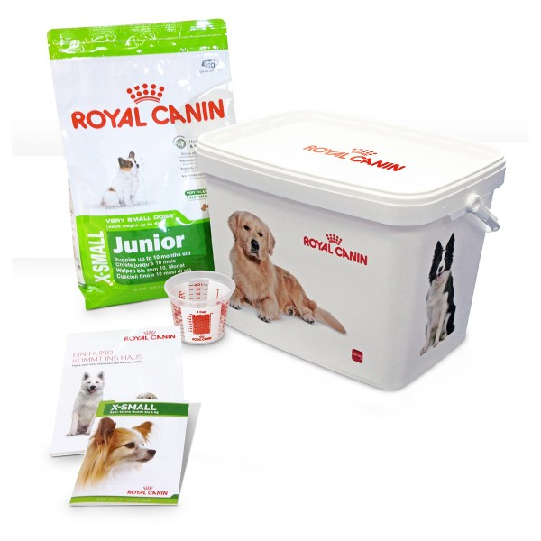 Royal Canin X-SMALL Junior Hunde-Starterpaket für Welpen