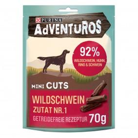Purina AdVENTuROS Mini Cuts, Hundeleckerli getreidefrei mit Wildschwein