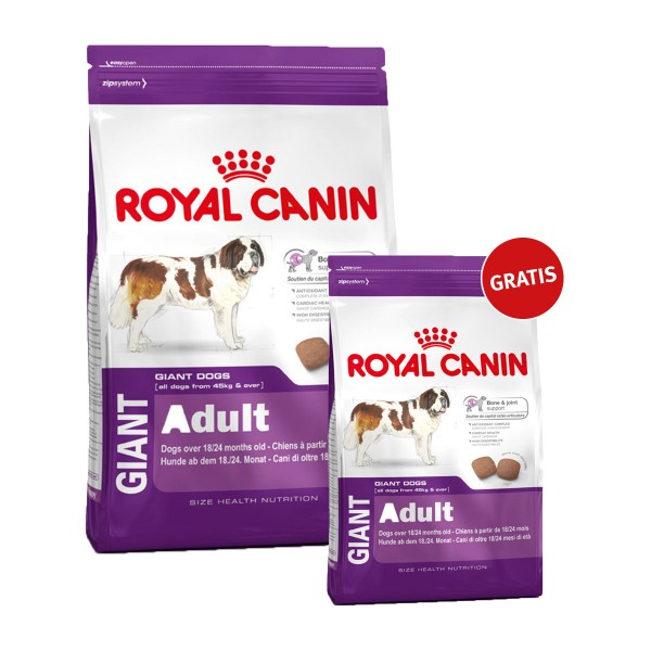 Royal Canin Giant Adult 15kg+4kg gratis