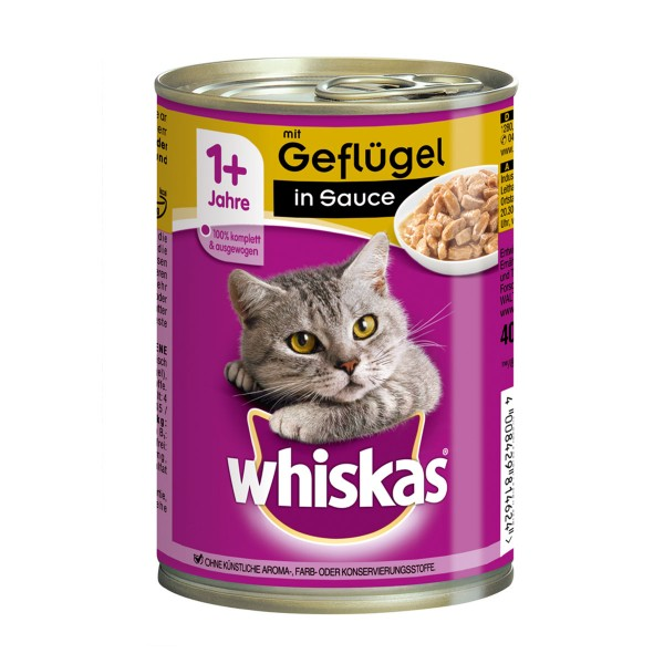 Whiskas Katzenfutter 1+ in Sauce 400g