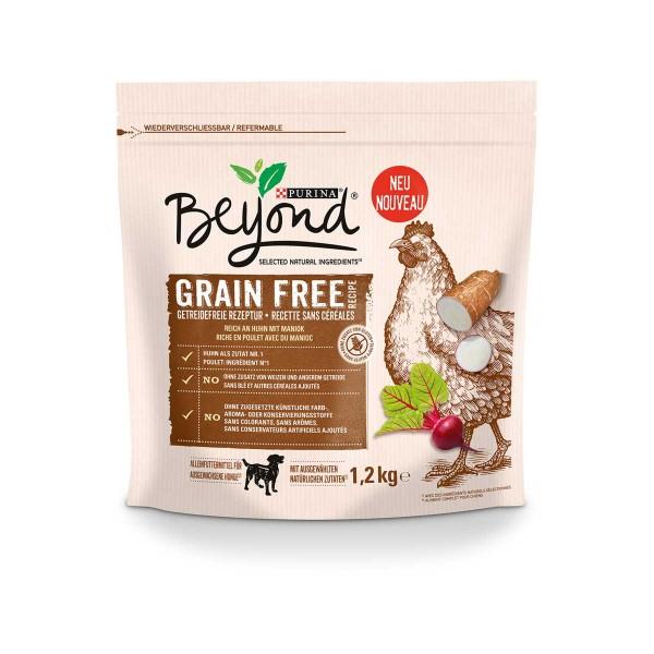 Purina BEYOND® Getreidefrei reich an Huhn mit Maniok 1,2kg