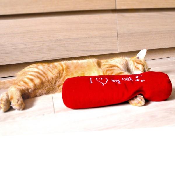 Aumüller Katzenspielkissen I love my Cat - aufwendig bestickt