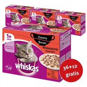 Whiskas Adult 1+ Creamy Soups Klassische Auswahl 48x85g