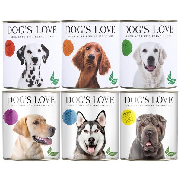 Dog's Love Hunde-Nassfutter Classic Mega Mixpaket 36x200g