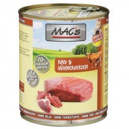 MAC's Cat Katzen-Nassfutter Rind & Hühnerherzen