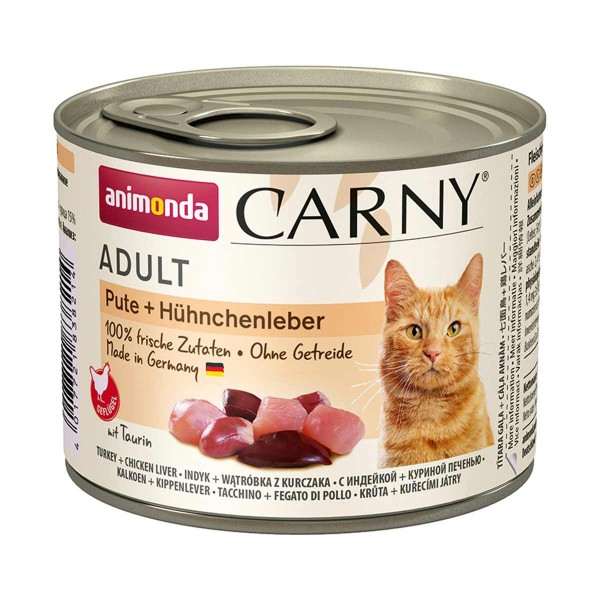 animonda Carny Adult Pute + Hühnchenleber 200g Dosen