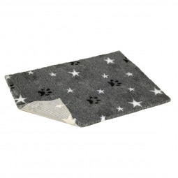 Vetbed Stern- und Pfotenmotiv grau/schwarz