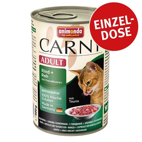 Animonda Katzenfutter Carny Adult Rind, Reh & Preiselbeeren 400g