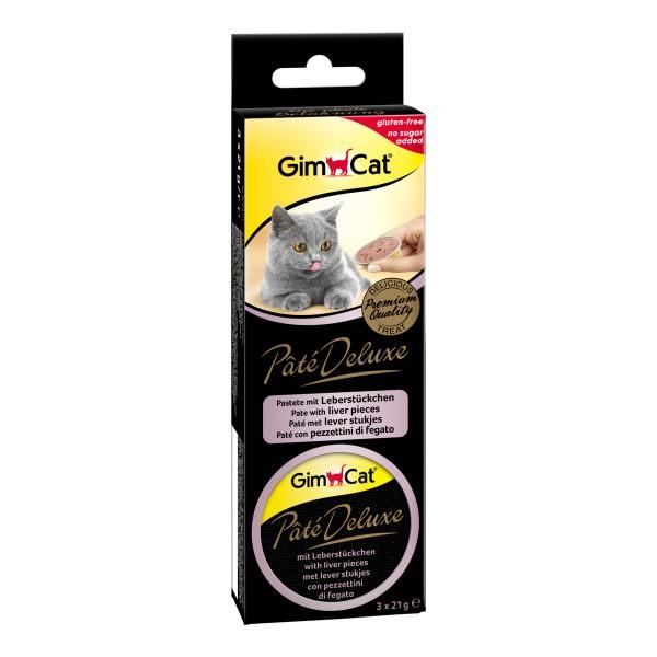 GimCat Pâté Deluxe mit Leberstückchen 3x21g