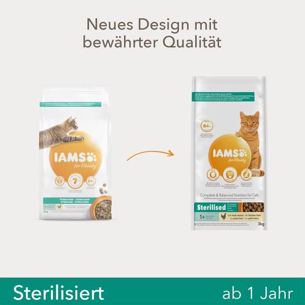 IAMS for Vitality für sterilisierte Katzen mit frischem Huhn 10kg