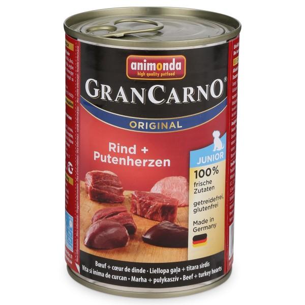 Animonda Hundefutter GranCarno Junior Rind und Putenherzen