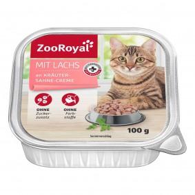 ZooRoyal Katzen-Nassfutter mit Lachs an Kräuter-Sahne-Creme